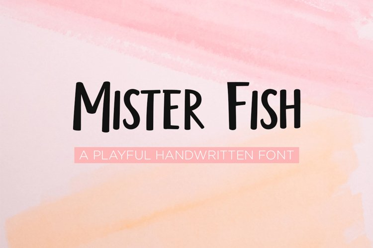 Mister fish- a playful fun font example image 1