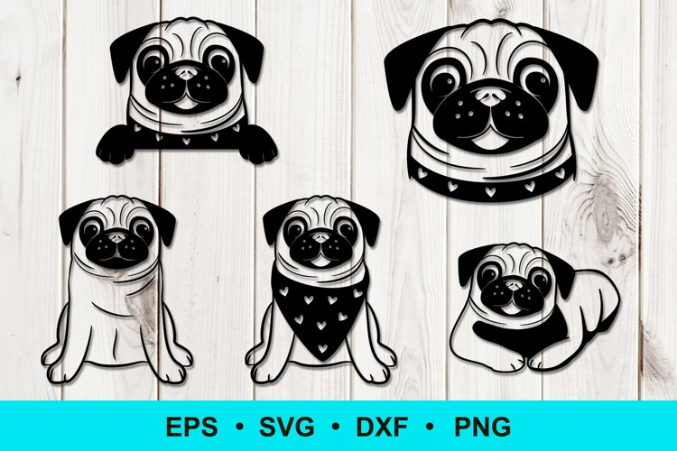 Funny Pug Clip Art example image 1