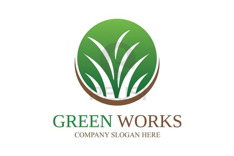 Greenworks Landscaping  Logo Template