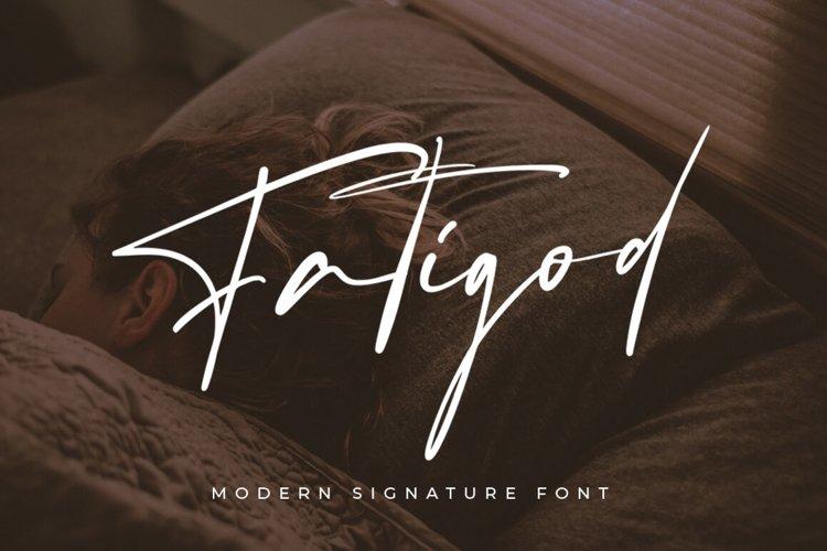 Fatigod - Luxury Script example image 1
