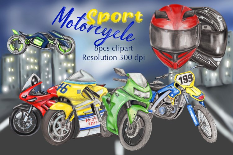 Motorcycle clipart, motorbike clipart, sportbike clipart
