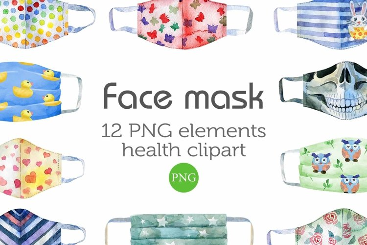 Watercolor Face Mask example image 1