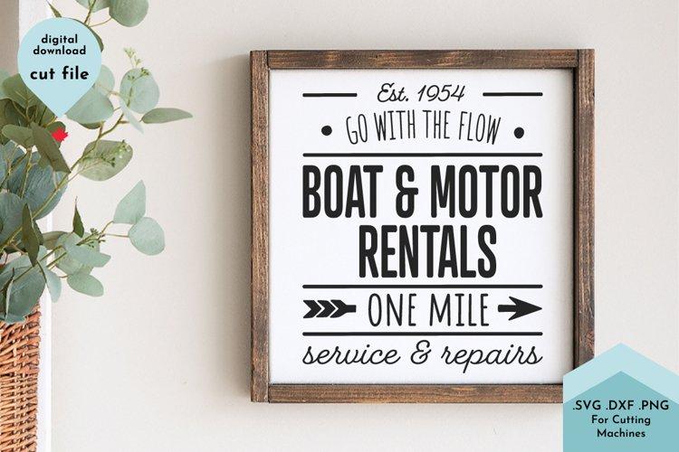 Summer Sign SVG, Lake House, Boating, Vintage Sign example