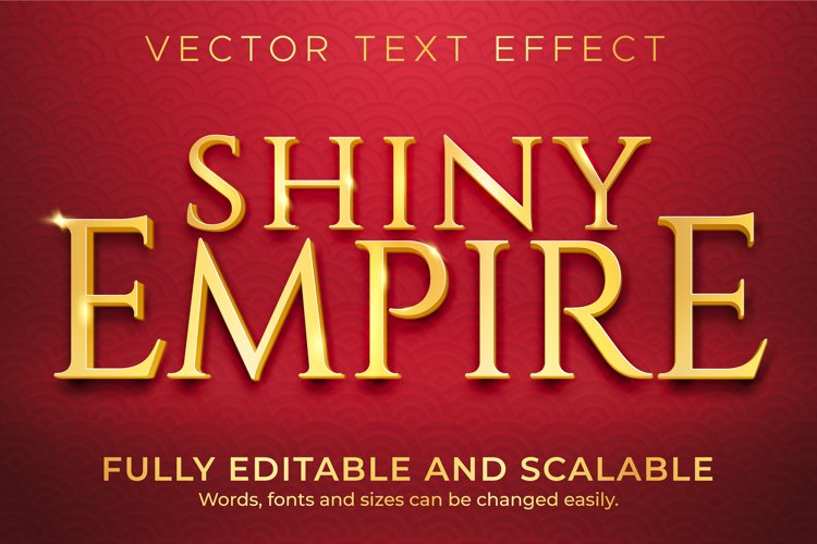 Golden shiny text effect, luxury and elegant text style example image 1