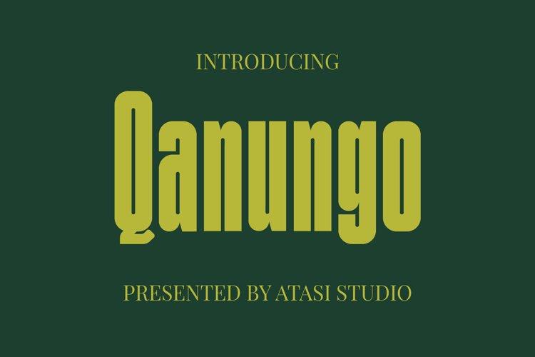Qanungo - Condensed Font example image 1