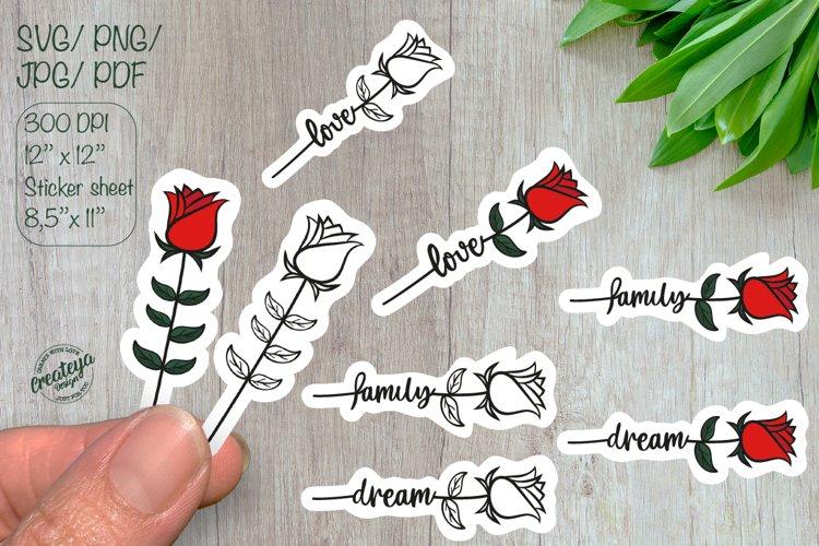 Love stickers. Sticker Pack. Sticker svg. Valentine stickers