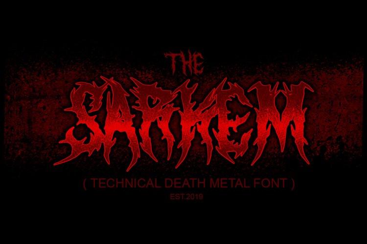 SARKEM TECHNICAL DEATH METAL FONT example image 1