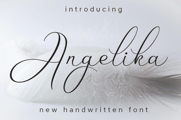 Web Font Angelika example image 1