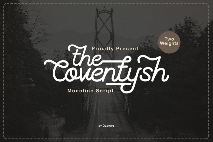 The Coventysh - Monoline Script Font