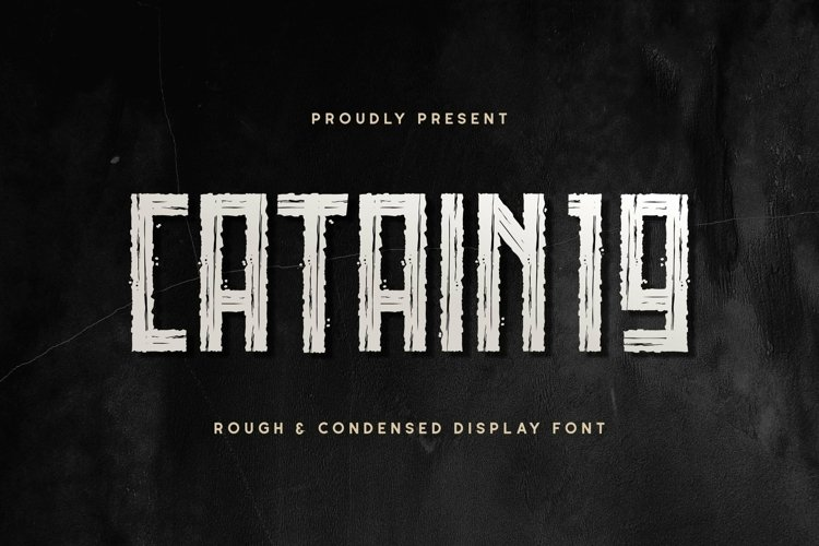 Web Font CATAIN19 example image 1