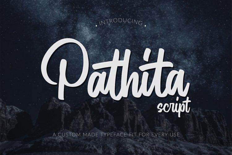 Pathita - Script Font example image 1