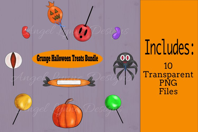 Halloween Graphic   Grunge Halloween Treats   Candy Graphic example image 1