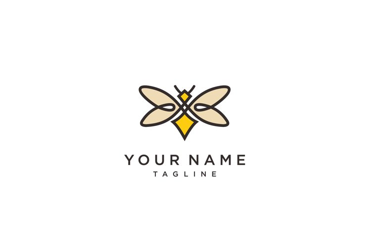 firefly logo vector icon template and Bee Logo design