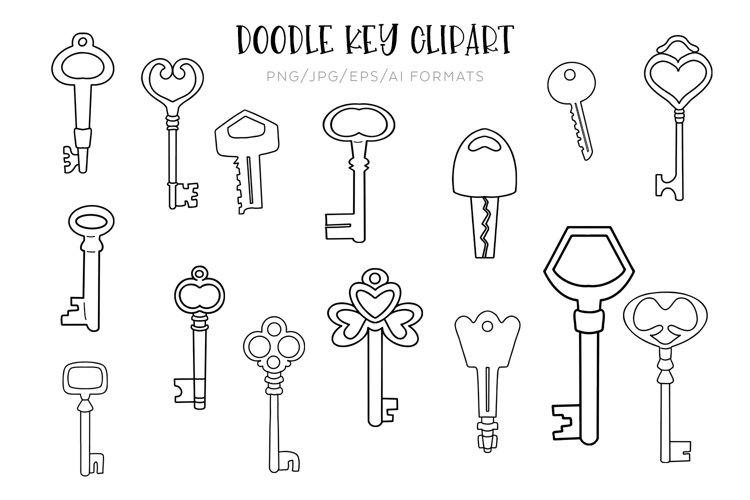 Doodle Key Vector Clipart