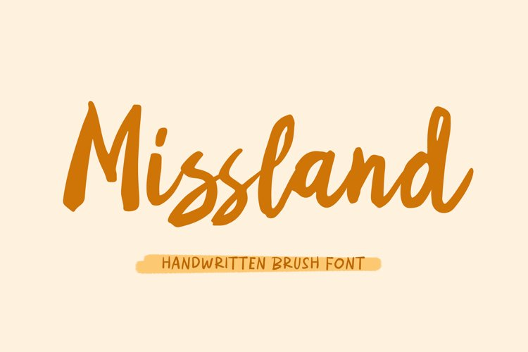 Missland - Handwritten Brush Font example image 1