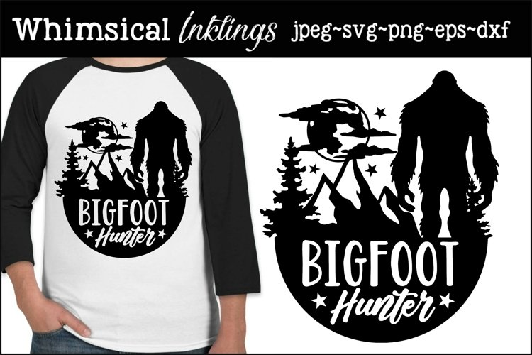 Bigfoot Hunter SVG example image 1