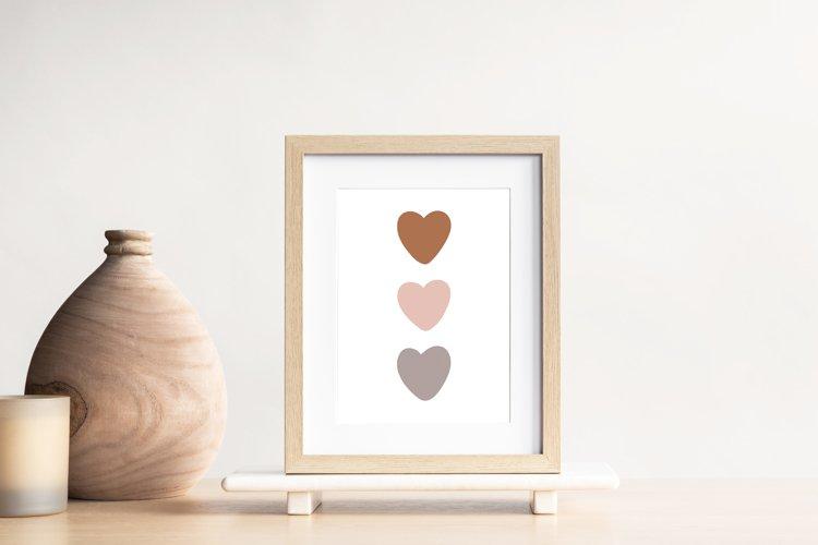 Boho Love Wall Print, Abstract Heart Wall Print