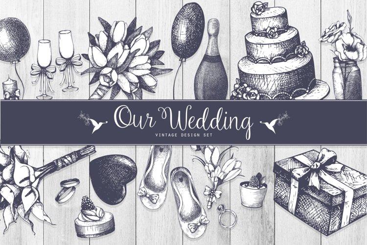 Vintage Wedding Design Set