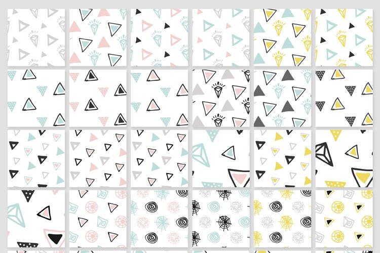 110 Hand-Drawn Geometric Patterns - Free Design of The Week Design1