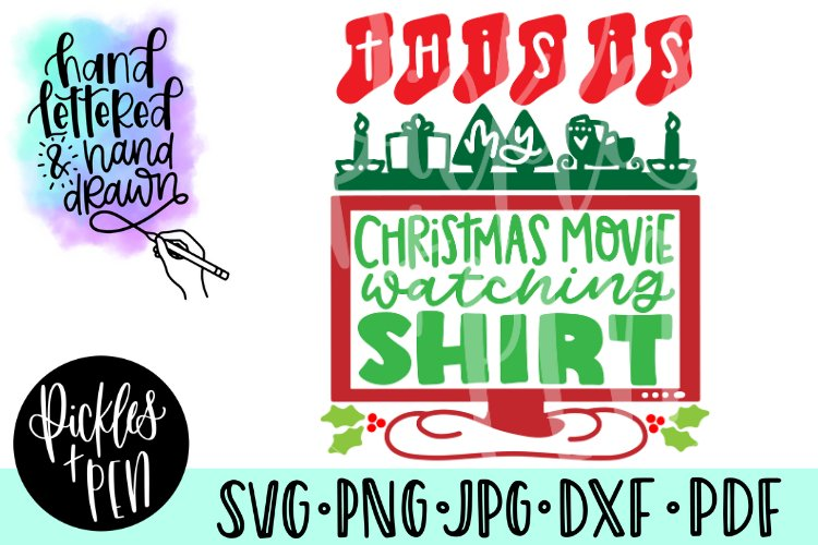 This is my Christmas Movie Watching Shirt SVG example image 1