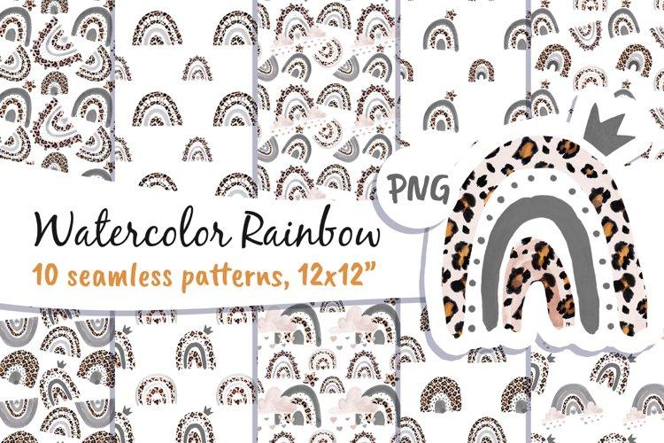 Rainbow Leopard Skin Digital Paper