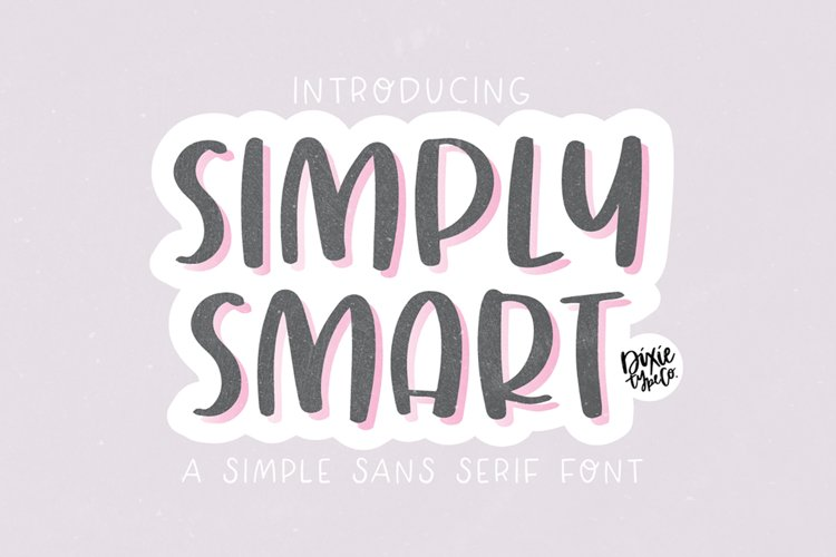 SIMPLY SMART Simple Sans Font example image 1