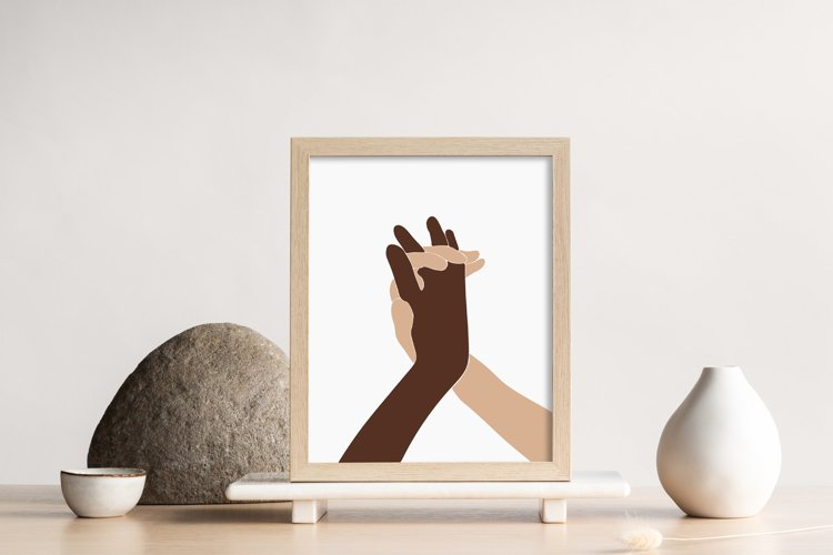 Abstract Hands Wall Print, Love Couple Wall Print
