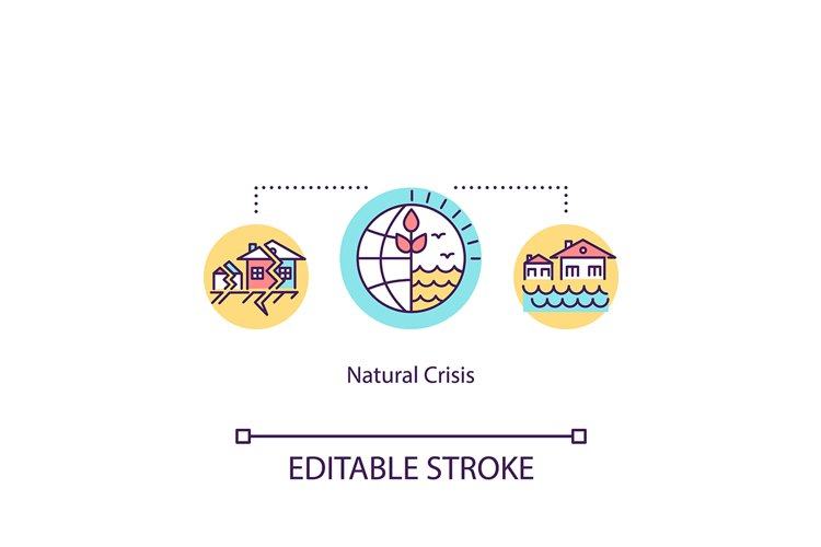 Natural crisis concept icon example image 1