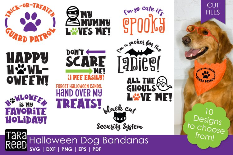 Halloween Dog Bandanas - SVG & Cut Files for Crafters