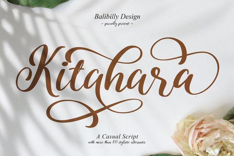 Kitahara Script example image 1