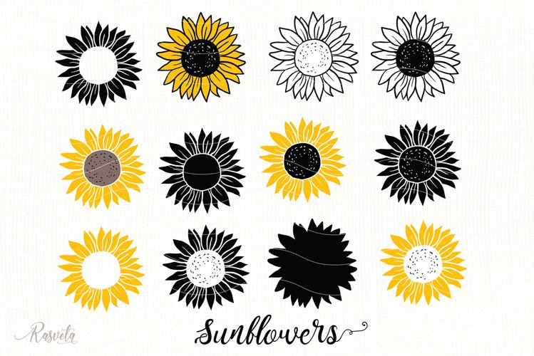 Sunflower Monogram Frames example image 1