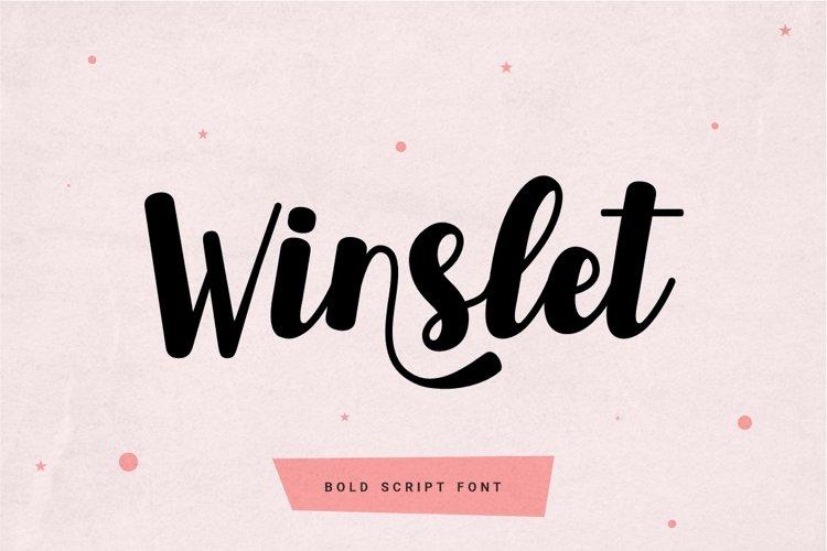 Winslet - Bold Script Font example image 1