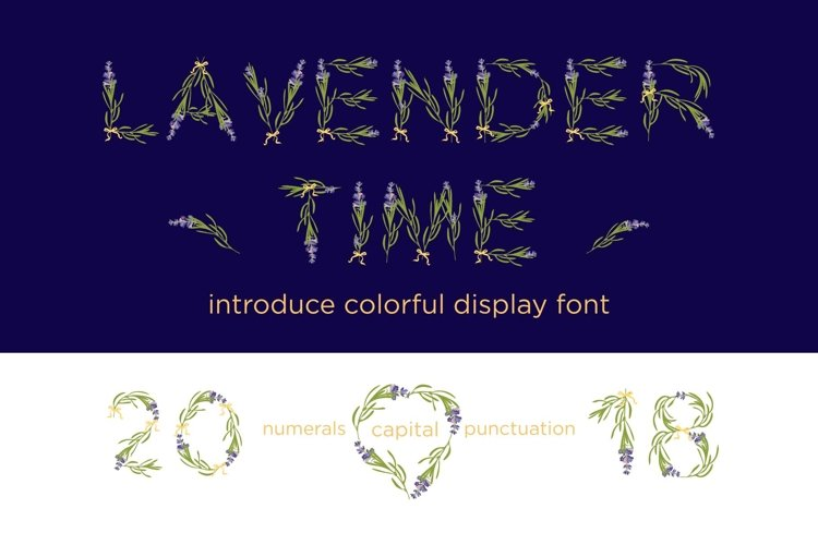 LAVENDER-TIME multicolor font example image 1