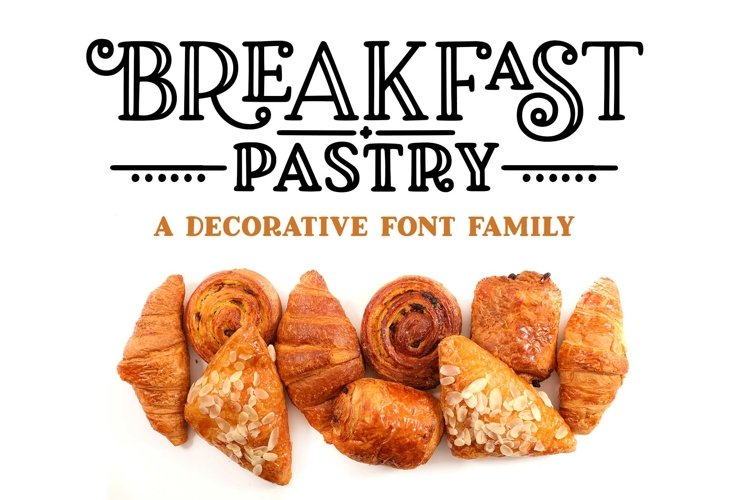 Breakfast Pastry - a decorative font family! example image 1