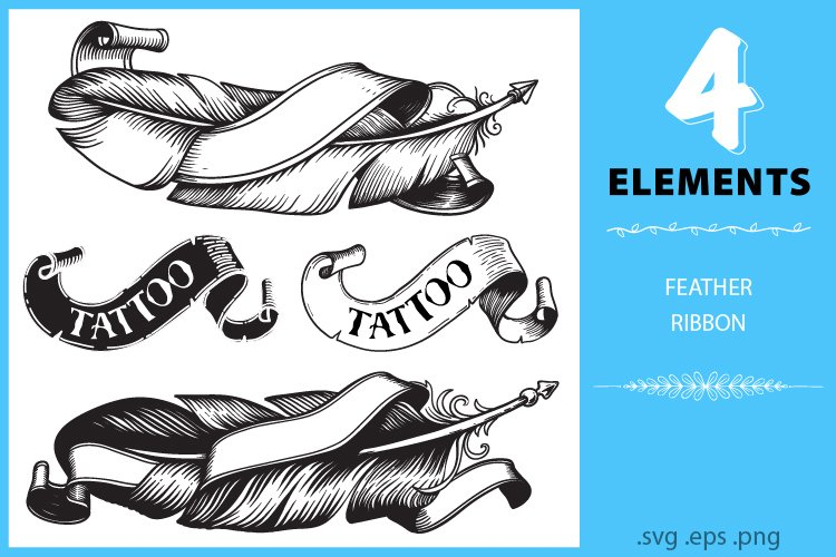 Feathers, Feather svg, Feather Clipart, Feather logo, Tattoo