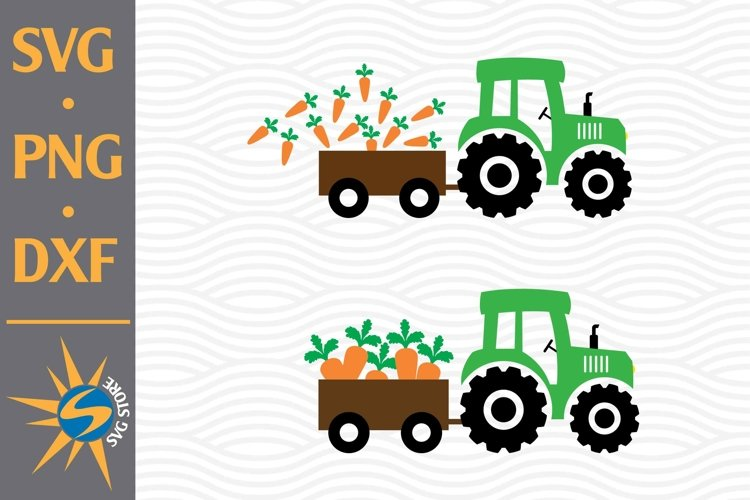 Tractor Carrot SVG, PNG, DXF Digital Files Include