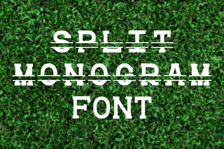 Split Monogram Font Initial Letter Personalize TTF OTF WOFF example image 1
