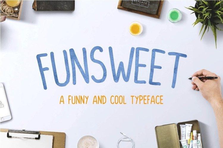 Web Font FUNSWEET Typeface Funny example image 1