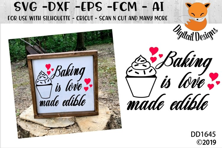 Baking Is Love Made Edible Kitchen SVG example image 1
