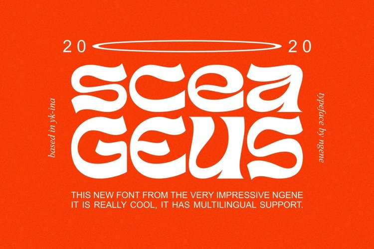 Sceageus Typeface example image 1