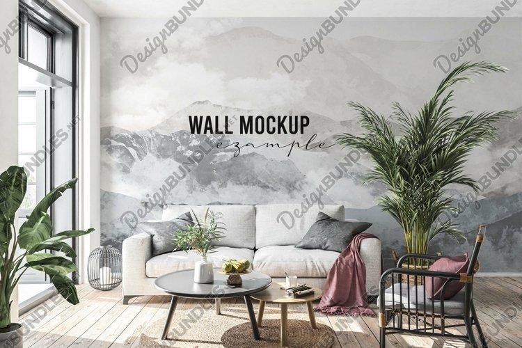 Wall mockup - Interior mockup - Wallpaper mockup example image 1