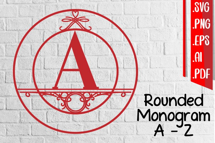Rounded Monogram Alphabet A-Z example image 1