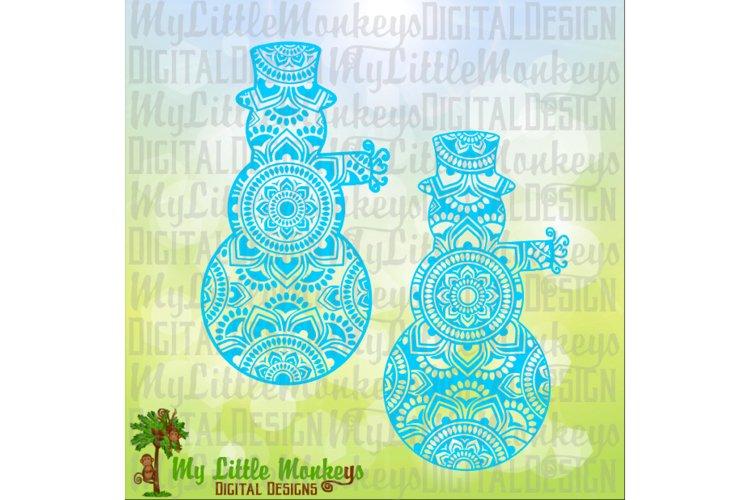 Snowman Mandala  example image 1