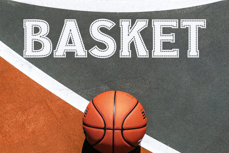 Basketball Sport Stitched Font example image 1
