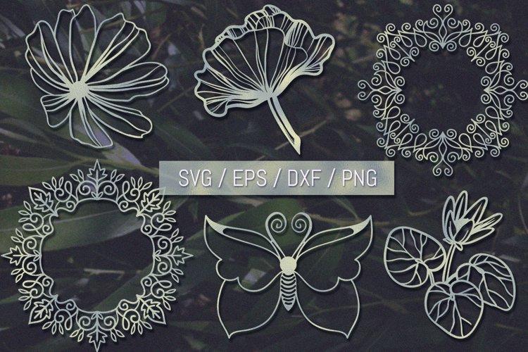 Papercut Nature Bundle SVG - Free Design of The Week Font