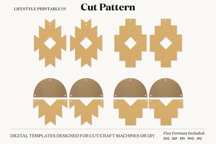 Earrings SVG Template, Silhouette Cut Files, Cricut