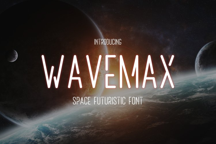 Wavemax - Space Futuristic Font example image 1
