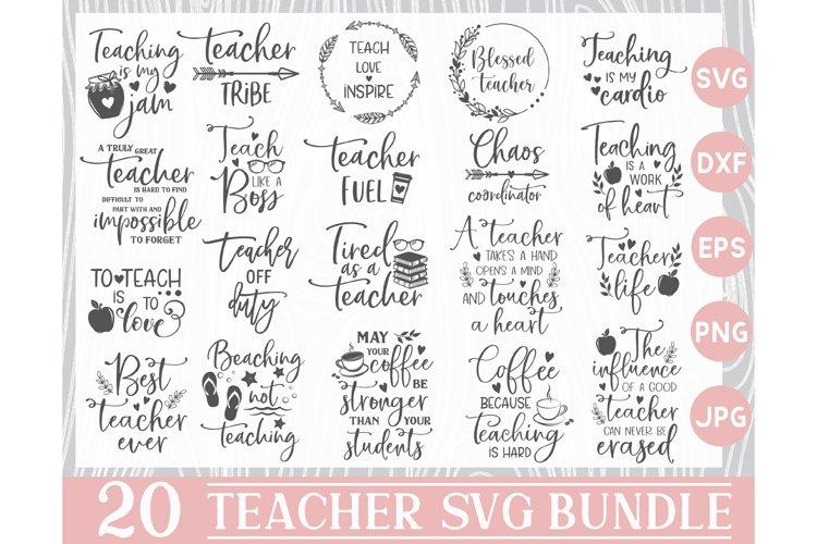 Teacher Svg Bundle, Teacher Svg, Teacher SVG Files, Teacher example image 1