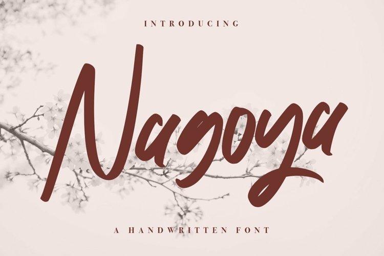 Web Font Nagoya - Handwritten Font example image 1