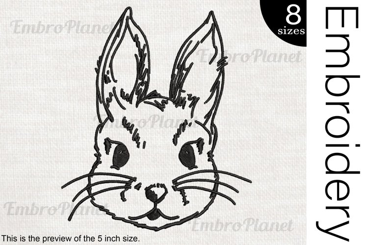 Bunny - Embroidery Files - 1471e example image 1